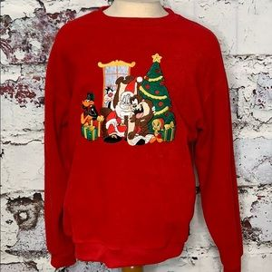 Warner Bros Christmas holiday sweatshirt L